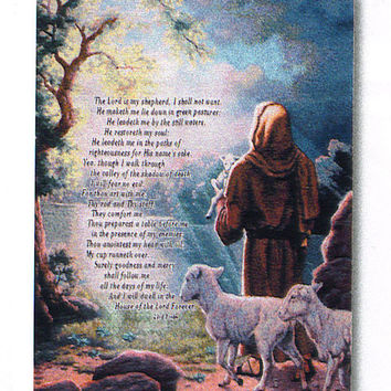 The Lord is My Shepherd Tapestry of Fine Art