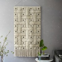 Sequin Shag Wall Tapestry - Squares