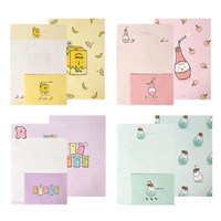 1x YummyYummy Letter Set - 4sh Lined Ruled Writing Stationery Paper 2sh Envelope