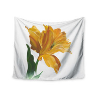 "Lydia Martin ""Yellow Tulip"" Wall Tapestry"