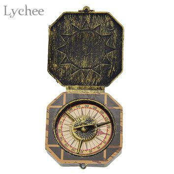 Lychee Halloween Cosplay Pirate Compass Fake Compass Halloween Captain Costume Cosplay Party Decoration Supplies