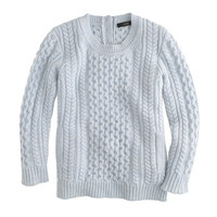 J.Crew Womens Cable-Knit Pocket Sweater