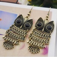 NANBO Limited New Trendy Rhinestone Min.order $10usd Europe & United States Fashion Owl Earring Jewelery for Women Spx1871