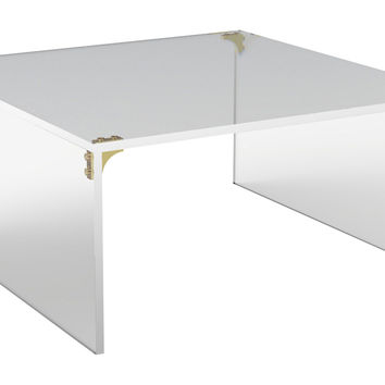 Parisienne Square Coffee Table, Acrylic / Lucite, Sofa Table