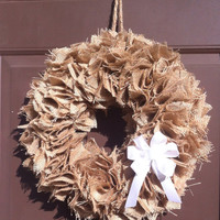 Fall Burlap Wreath Ruffle Rag for Front Door Autumn Finds