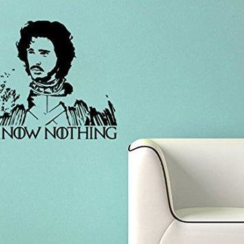 Game of Thrones Inspired Parody Jon Snow I know nothing Wall Decal Sticker