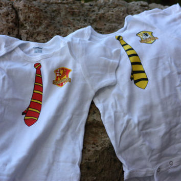 Harry Potter Inspired Baby Onesuit Student Neck Tie by MudInMyBlood