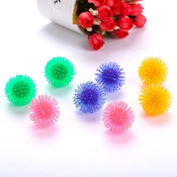 Colorful Pet Cat Toy Ball Kitten Candy Color Assorted Ball Interactive Toys Soft Balls Playing Catch Training Toys Cat Supplies
