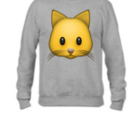 emojie cat - Crewneck Sweatshirt