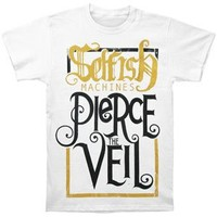 Pierce The Veil Men's Selfish Machines T-shirt White