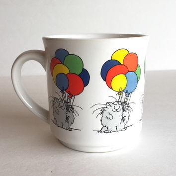 Sandra Boynton Cat and Balloons Mug