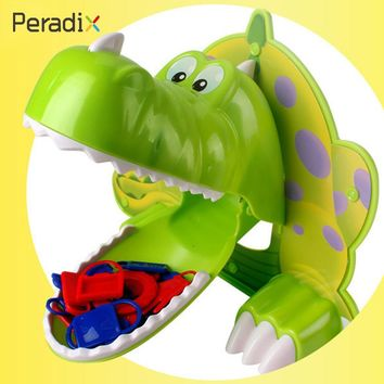 Gifts Dinosaur Toy Hunger Dino Toy Funny Adventruous Bite Finger Game ABS Green BRPG Parents-Kids Interactive Jokes Kids Toy