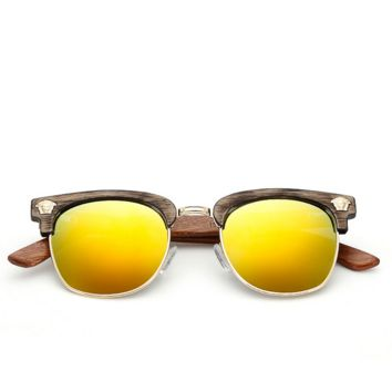 Wood Stylish Street Cool Versace Women Fashion Sunglasses