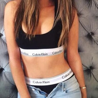 """Calvin Klein"" Fashion Tank Top Shorts Underwear Lingerie Set Bikini Swimwear"