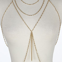 Gold Tassel Body Chain