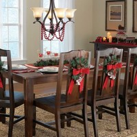 Faux Holiday Wreath Chair Decoration With Hook By Collections Etc