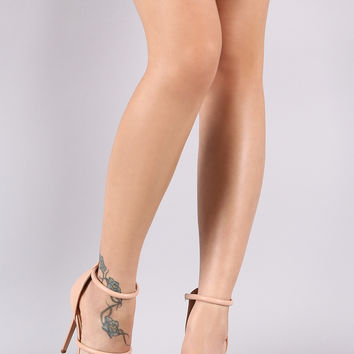Triple Straps Stiletto Heel | UrbanOG