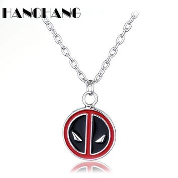 Deadpool Dead pool Taco Pendants&Necklace  Necklace stainless steel chain Necklaces Metal Chain Collier Movie Jewelry  for women men collier AT_70_6