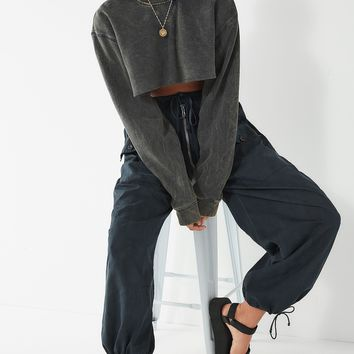 Urban Renewal Remade Acid Wash Cropped Sweatshirt | Urban Outfitters