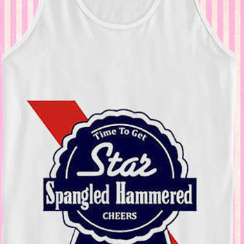 Star Spangled Hammered (PBR) for Tank Top Mens and Tank Top Girls