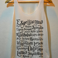 Harry Potter Magical Witchcraft Pop Punk Rock Tank Top Vest Ladies Freesize