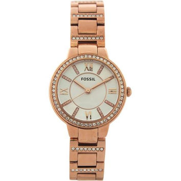 Fossil - ES3284P Virginia Rose-Tone Stainless Steel Watch