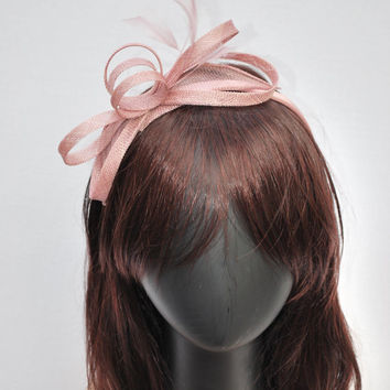 Pearly Pink Fascinator, Womens Tea Party Hat, Church Hat, Derby Hat, Fancy Hat, Pink Hat, Tea Party Hat, wedding hat