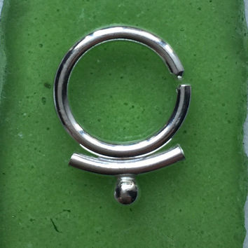 silver or 14 k gold septum jewelry