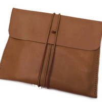 Leather iPad Sleeve- iPad Case- iPad Cover-iPad2- iPad3-iPad4- Italian Genuine Leather Sleeve Case Hand Stitched