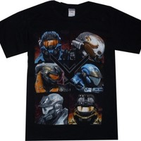 Halo Reach: Noble Team Black T Shirt