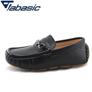JABASIC Kids School Shoes Casual Pu Leather Loafers Boys Shoes 2019 Schoolboy Formal Party Dress Boys Sneakers Scarpe Bambini