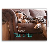 Golden Retriever Take a Nap Card