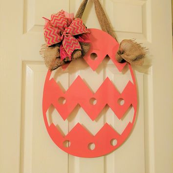 Easter Wreath, Easter Decor, Easter Wall Hanging, Easter Egg, Easter Egg Door Hanger, Metal Art, Mailbox Sign, Easter Bunny, Easter Decor