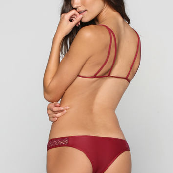 Kahana Bikini Bottom in Rouge