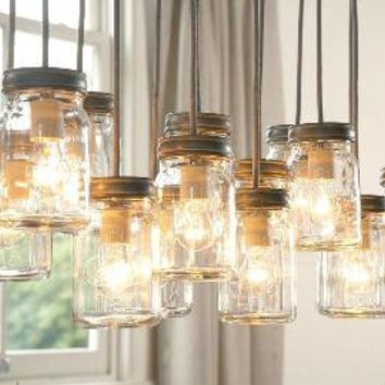 Exeter 16-Jar Pendant | Pottery Barn