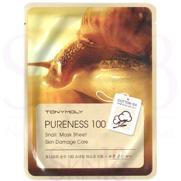 TonyMoly Pureness 100 Snail Mask Sheet - Skin Damage Care