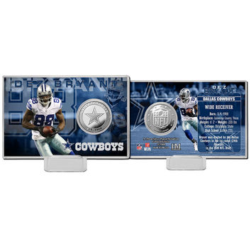 Dez Bryant Silver Coin Card