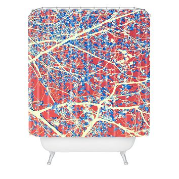 Belle13 Spring Abstract Shower Curtain