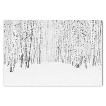 White Christmas Tale Tissue Paper