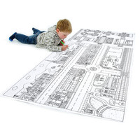 Personalised Colour In Town Map With 3D Vehicles Poster