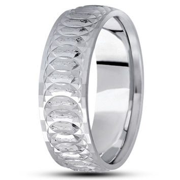Wedding Band - Engraved Spiral Infinity Wedding Band