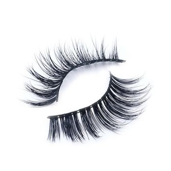 1 Pair False Eyelashes Natural Makeup 3d Mink Lashes Long Fake Eyelashes Eyelash Extension Faux Strip Eye Lashes Non Magnet
