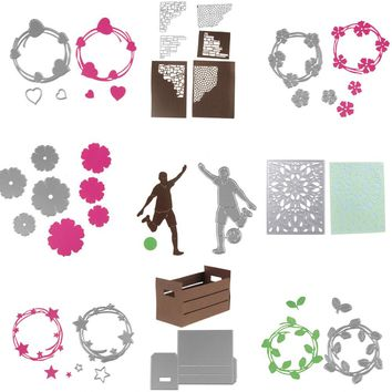 9 style customized frame Scrapbook DIY Metal Die cutting dies for DIY Scrapbooking Photo Album Decoretive Embossing Stencial