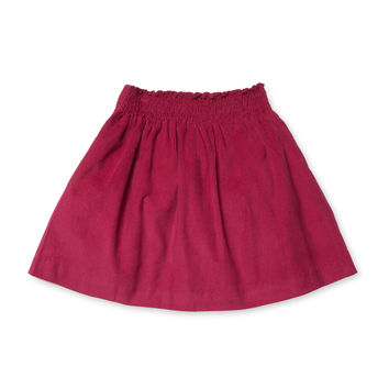 Busy Bees Smock Skirt - Purple -