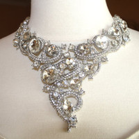 Crystal statement jewelry bridal accessory by ZaraBellaCouture