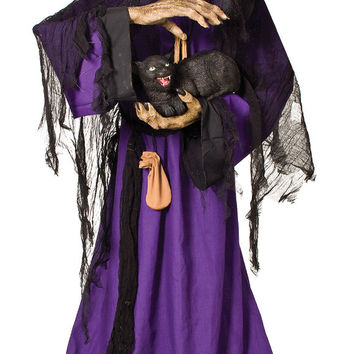 halloween prop: matilda animated witch