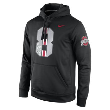 Nike KO College Fan Pullover (Ohio State) Men's Training Hoodie