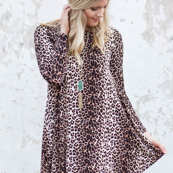Hear Me Roar Leopard Dress