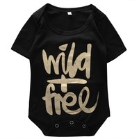 Newborn  Baby Casual letter printed Bodysuit