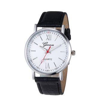Casual Leather Analog Quartz Wrist Watch